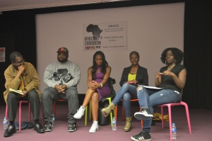 Panel l-r: Kwaku, DJ Ace, Remel London, Ruby Mulraine, Akua