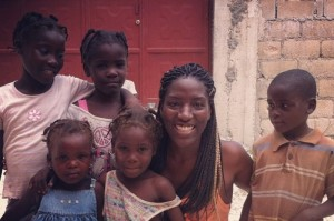 Kai with children from Delmas camps in Port-au-Prince